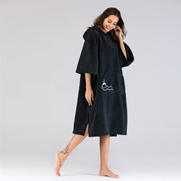 $enCountryForm.capitalKeyWord Canada - beachmood Solid color changing robe surf poncho towel wet hoodie cloak beach dress for adult 110x75cm with Embroidery Logo