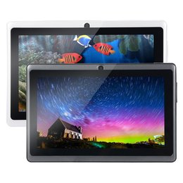 A33 Quad Core Tablet Australia - Q8 7 inch tablet PC A33 Quad Core Allwinner Android 4.4 KitKat Capacitive 1.5GHz 512MB RAM 4GB ROM WIFI Dual Camera Flashlight OTG GPS WIFI