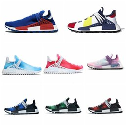 trail trainers UK - TOP Quality NMD Running Shoes Human Race Pharrell Hu Trail PW Digijack Pack BBC Nerd CHINA EXCLUSIVE Women Mens Trainers Sports Sneakers
