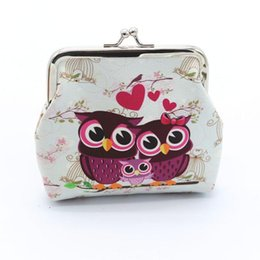 $enCountryForm.capitalKeyWord NZ - 1Pcs Cute Owl Pattern Leather Coin Purses Zipper Zero Wallet Child Girl Boy Women Purse Lady Coin Bag Key Packet #LH
