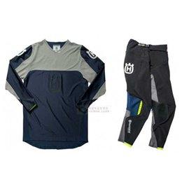$enCountryForm.capitalKeyWord NZ - 2019 New HUSQVARNA Motocross Suit Racing Full Set Protection Gear Jersey Pants Motorcycle MX riding combination H