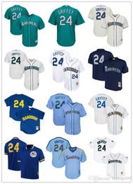 bcaf18415 Men's Mariners 24 Ken Griffey Jr. Majestic Northwest Green Alternate Cool  Base Player Seattle women kids Jersey
