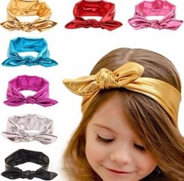Baby Wash Hair Australia - Fashion Rabbit Design Elasticity Wash Gold Baby Girl Headband Hair Accessory 2019