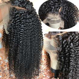 natural hairline full lace wigs NZ - Silk Top Full Lace Wigs With Natural Hairline Kinky Curly Virgin Brazilian Human Hair Silk Base Lace Front Wigs Glueless Bleached Knots