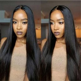 Ponytail Hairstyles For Babies NZ - Unprocessed Virgin Full Lace Wigs Human Hair With Baby Hair Bleached Knots Lace Front Ponytail Wigs Braziian Virgin Hair Wig For Women