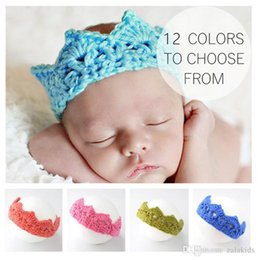 Crochet Crown Baby Cap Australia - PrettyBaby Baby Infant Crown Headband Knitting Crochet Costume Soft Adorable Clothes Newborns Photography Props Baby Photo Hat Cap