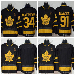 x xxxl al por mayor-91 John Tavares Toronto Maple Leafs x Ovo Golden Edition Edition Jersey Auston Matthews Blank Jerseys En stock