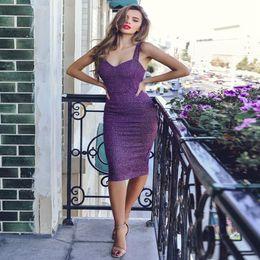 $enCountryForm.capitalKeyWord Australia - Women Sexy Spaghetti Strap Glitter Bandage Dresses Back Split Bodycon Midi Dress Party Clubwear Shiny Dress Ladies Vestidos