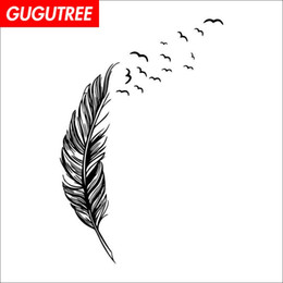 $enCountryForm.capitalKeyWord NZ - Decorate Home feather cartoon art wall sticker decoration Decals mural painting Removable Decor Wallpaper G-1571