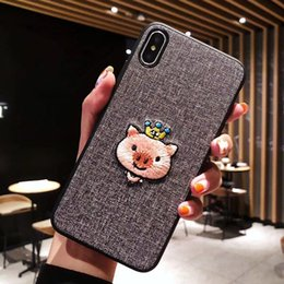 $enCountryForm.capitalKeyWord Australia - Embroidered lovely pig mobile phone case for iphone xsmax creative plum S8 S9 NOTE8 personality all-inclusive protective cover