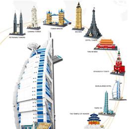 World Blocks NZ - Diamond Blocks World Famous Architecture Dubai Burj AI-Arab Hotel Mini 3D Model Building Blocks DIY Assembly Bricks Toys