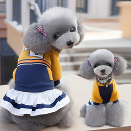 unique clothing designs Australia - Dog clothing pet dog clothes skirt gold crown baby Teddy bear costume seiko cutting unique design Generous and decent