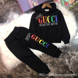 Wholesale 2019 boy Kids Sets Kids Baby 2-9 years sells best new autumn boy shirt sweater hoodle jacket boy sports hooded suit 3 color sizes BOFE