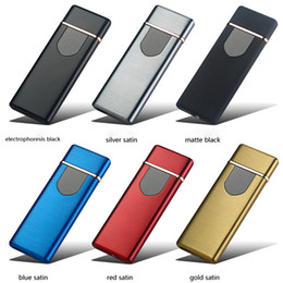 $enCountryForm.capitalKeyWord NZ - Newest Ultrathin Colorful Zinc Alloy USB Charging Lighter Innovative Cyclic Charging Ignition Touch Induction For Cigarette Smoking Pipe