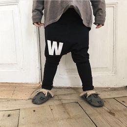 46427d5e2689 Autumn 2019 Baby Boys Casual Pants Cotton Girls Long Trousers Kids Stripe Clothing  Harem Pants Elastic Waist Jogger Pant Nununu