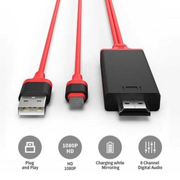 $enCountryForm.capitalKeyWord Australia - SZAICHGSI 500pcs 2M USB 8 Pin to HDMI HDTV AV Cable Adapter for iPhone 7 7 Plus 6S 6 Plus 5S 5 Charging Adapter Cable