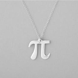 $enCountryForm.capitalKeyWord Australia - 30pcs science Pi 3.14 Math Necklace Pi Symbol Necklace Mathematician Teacher Geometry Necklace jewelry Gift for friends and classmates
