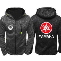 Casual Motorcycle Jackets Australia - Spring Autumn west coast motorcycle for YAMAHA Men Sports Casual Wear Hoodies Zipper Fashion Trend Jacquard Cardigan Jacket Hip Hop Coat
