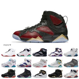 Discount hare 7s shoes - 2019 All Series 7 Marvin Martian Hare GS Concord Black Sweater Red Black VII Basketball shoes 7s Bordeaux Cigar Nothing