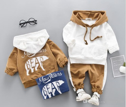 $enCountryForm.capitalKeyWord Australia - Spring and Autumn Children's Clothing 2019 Two-piece Alphabetic Hat Boy's Sanitary Clothing Suit SIZE 80T-110T