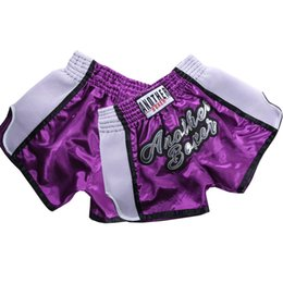 thai box shorts NZ - Mens Women Kickboxing Muay Thai Shorts Kids Bjj Kick Boxing Training Fight Grappling Trunks Children Fitness Boxe Pants