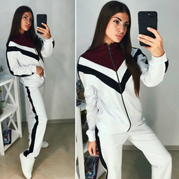 $enCountryForm.capitalKeyWord Australia - 2019 New Fashion Ladies Long Sleeve Jacket Pants Sets Designer Brand Tracksuit Spring Sports Women Sweatshirts Running Coat Trousers Suits