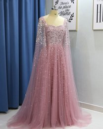 $enCountryForm.capitalKeyWord Australia - Sparkly Luxurious Beaded Sequins 2019 African Dubai Evening Dresses Square A-line Tulle Prom Dresses Sexy Formal Party Bridesmaid Gowns