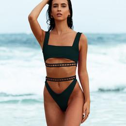 $enCountryForm.capitalKeyWord Australia - Bikini 2019 Sexy Women Split Body Swimsuit Pure Color High Waist Bandage Bikini Bathing suit Biki Swimwear Biquini Beachwear