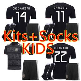 67574925e6b Kits+Socks KIDS XXS-XXL GOLD CUP 2019 2020 CHILD MEXICO SOCCER JERSEYS  CHICHARITO H.LOZANO G.DOS SANTOS football shirt camisetas de futbol