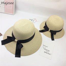 ElEgant straws online shopping - Bucket Hats Women Trendy Leisure All match Straw Daily Korean Style Dome Elegant Womens Ladies High quality New Girls Hat