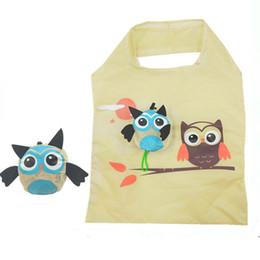 $enCountryForm.capitalKeyWord NZ - With Handle Portable Ladies Cartoon Animal Eco-friendly Handbag Soft Gift Shopping Bag Travel Folding Easy Storage Reusable