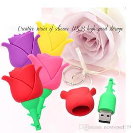$enCountryForm.capitalKeyWord NZ - Top sell Colorful Rose flower pendrive 4GB 8G 16G 32G 64GB u disk USB Flash drive Pen Drive Memory Stick usb Thumb Stick best gift