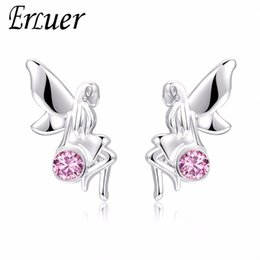 Friendship Plates Australia - ERLUER Fashion Stud Earring for Women Silver Plated Zircon Charm Wedding Earrings Party Engagement Jewelry Friendship Valentine Gifts