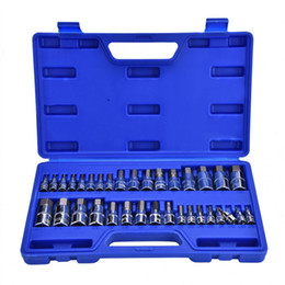 Chrome vanadium tools online shopping - 34Pcs Set Allen Wrench Hex Key Bit Socket Kit Repair Tool Set quot quot quot Inch Drive Socket Chrome Vanadium Steel