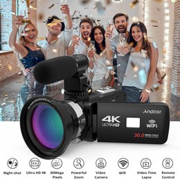 "Flash Hot Shoe Mount Australia - Andoer 4K Ultra HD WiFi Digital Video Camera Camcorder DV 16X Zoom 3.0""LCD Touchscreen Night Vision with Hot Shoe Mount Full Set"