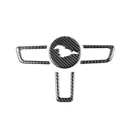 Kipalm Mustang Real Carbon Fiber Wheel Wheelm Emblem para Ford Mustang Pegatinas de automóviles del automóvil 2015-2018 Mustang Pegatinas Accesorios en venta