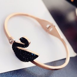 Rose Gold Filled Pendant Australia - 2019 Super Quality Star Style Women's Gift Necklace Female Personality Crystal Swan Pendant Collar Bone Chain Rose Gold Necklace