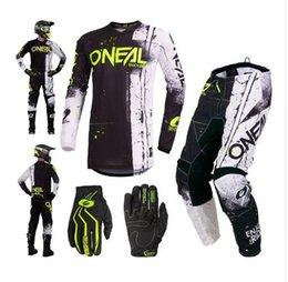 Dark Blue Suits Australia - Factory Outlet 2019 Motocross Suit Motorcycle Racing Jersey + Pants Combination MTB ATV MX Dirt Bike Riding sets