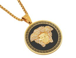 $enCountryForm.capitalKeyWord UK - 2019 European and American Fashion Hip-hop Medusa Disk Necklace with Titanium Steel STN2200 for Men and Women 1-24