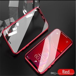 $enCountryForm.capitalKeyWord Australia - Magnetic Adsorption Metal Phone Case For iPhone Xr Xs Max Front And Back Full Coverage With Tempered Glass Back Cover Mirror Phone Case