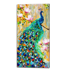 $enCountryForm.capitalKeyWord Australia - Animal Peacock,1 Pieces Canvas Prints Wall Art Oil Painting Home Decor (Unframed Framed) 16X32: