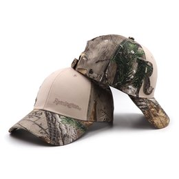 86cef693023fe Remington Outdoor Fishing Cap Jungle Baseball Caps Hunting Hat Bionic  Breathable Cotton Camouflage Men Women Dad Snapback Hats