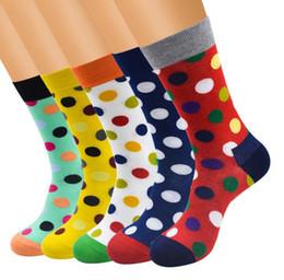 bdbc0d516c539 SockS box deSign online shopping - Fashion design men casual business socks  novely dots male business