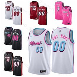 e3f58a91a29 Man Kids Woman Miami Printed Heat Basketball Dion Waiters Jersey 11 Kelly  Olynyk 9 Rodney McGruder 17 Bam Adebayo 13 James Johnson 16