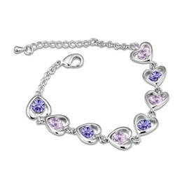 $enCountryForm.capitalKeyWord Australia - luxury designer jewelry women Bracelets lady jewelry Charm Austrian Zircon Bracelet Simple Design Made with Swarovski Elements W69