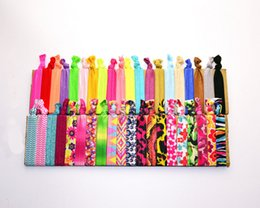 Stretchy ponytailS online shopping - 100pcs New Women Knotted Ribbon Hair Tie Ponytail Holders Stretchy Candy Colors Elastic Headbands Kids Lady Hair Accessory