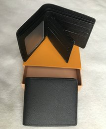 HigH end boxes online shopping - Mens new L bag billfold High quality Plaid pattern women wallet men pures high end luxury s designer L wallet with box