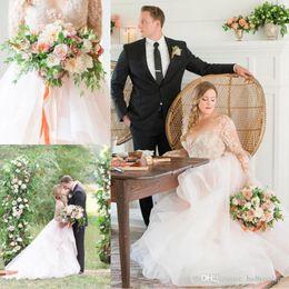 $enCountryForm.capitalKeyWord Australia - 2018 new Simple Summer Beach Wedding Dresses Sexy Open Back Sheer Long Sleeves Appliques Layers Bridal Gowns