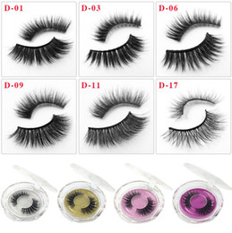 fiber lash extensions NZ - 3D Mink Eyelashes Messy Thick Long Eye lash Extension Sexy Eyelash Full Strip Eye Lashes Fiber False Eyelash DHL shipping
