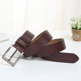 $enCountryForm.capitalKeyWord Australia - Men's Square Pin Buckle Cowskin Genuine Leather Whole Yellow Leather Belt Fashion Casual Wild Belt Spot Wholesale